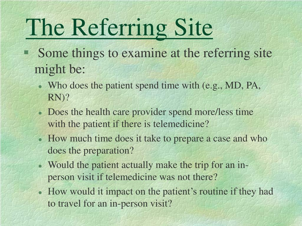 The Referring Site