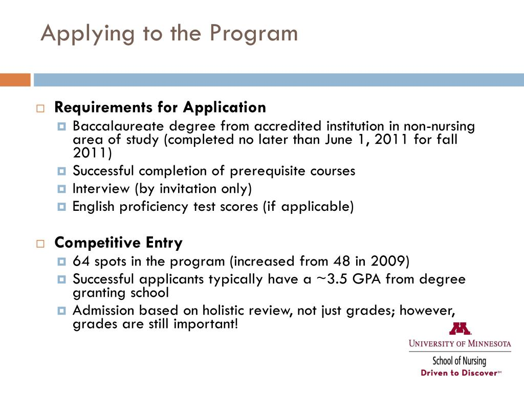 Applying to the Program
