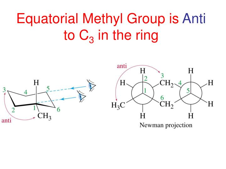 Equatorial Methyl Group is