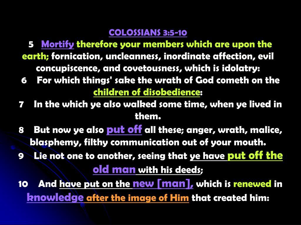 COLOSSIANS 3:5-10