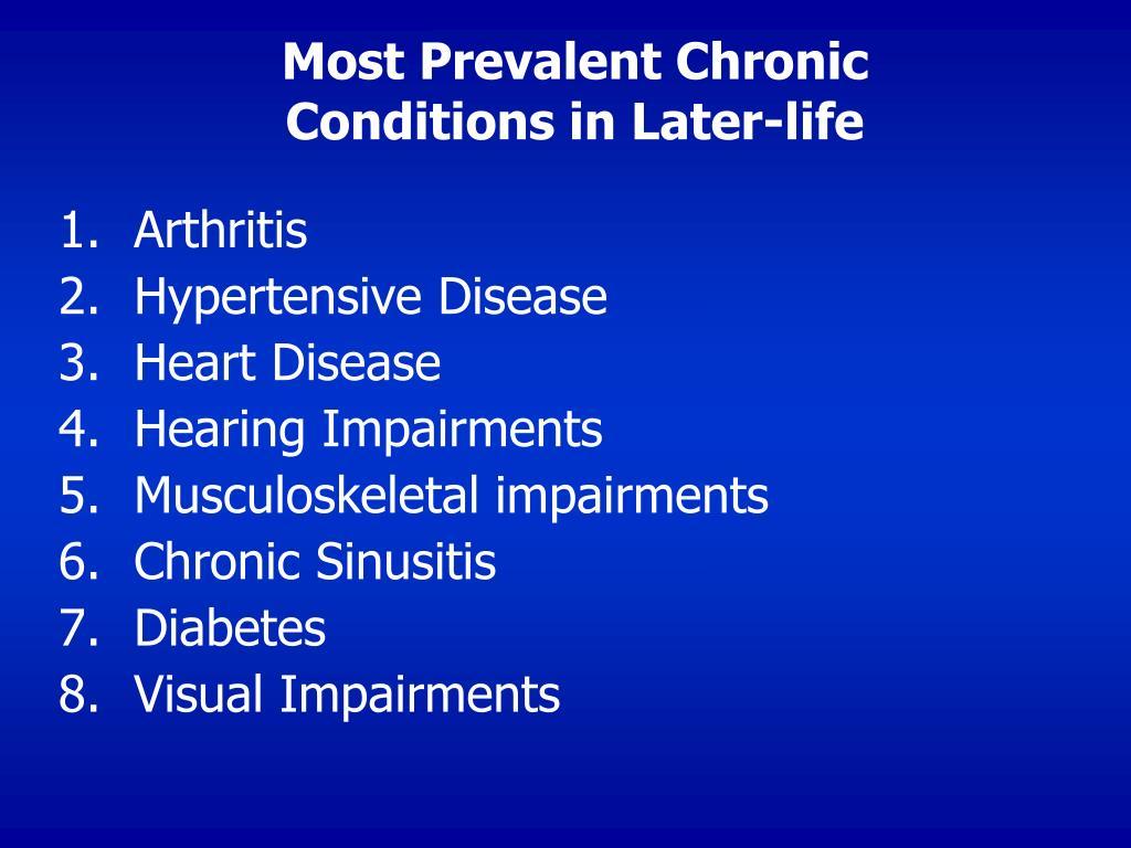 Most Prevalent Chronic