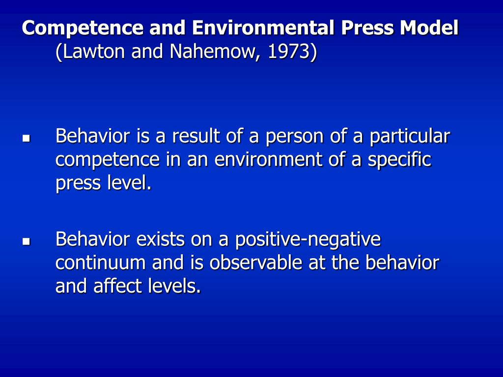 kurt lewin lawton nahemow environmental press theory Kurt lewin lawton nahemow environmental press theory kurt lewin kurt lewin was a great innovater at his time in the field of psychology the theories he developed.