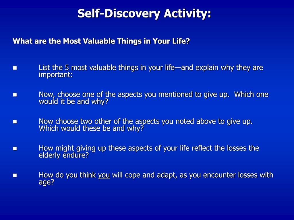 Self-Discovery Activity: