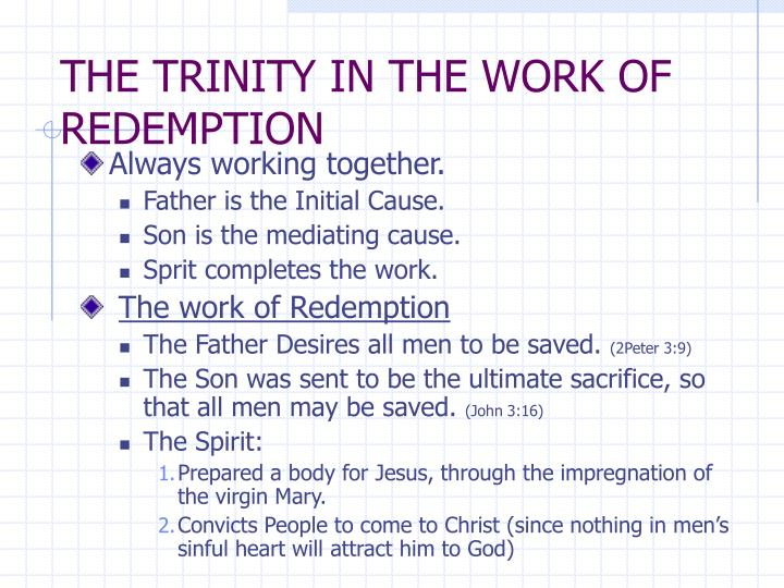 THE TRINITY IN THE WORK OF REDEMPTION
