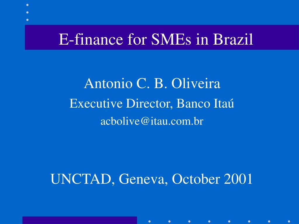 E-finance for SMEs in Brazil