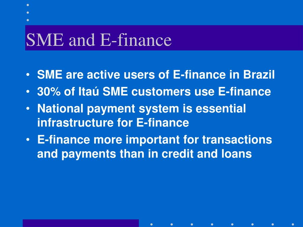 SME and E-finance