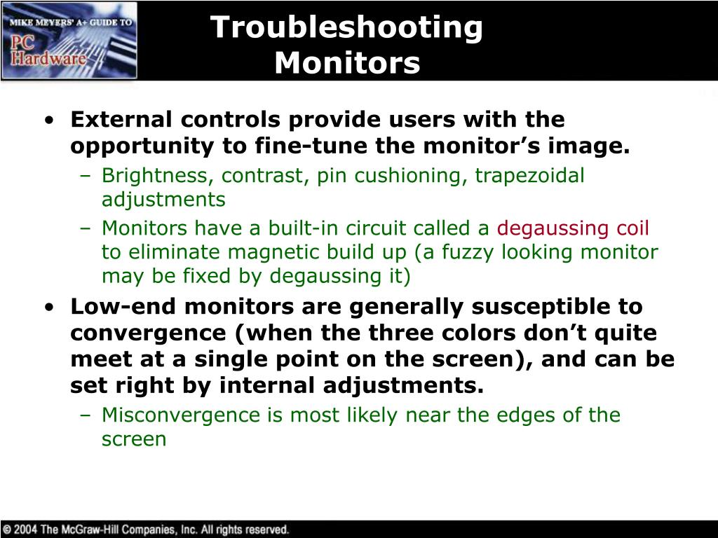 Troubleshooting Monitors