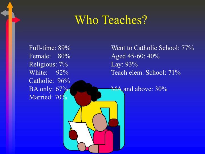Who Teaches?
