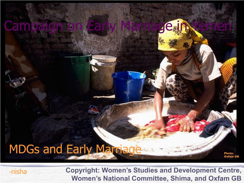 Campaign on Early Marriage in Yemen
