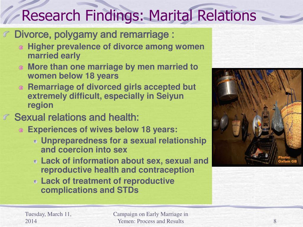Research Findings: Marital Relations