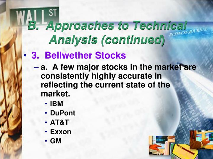 B.  Approaches to Technical Analysis (continued