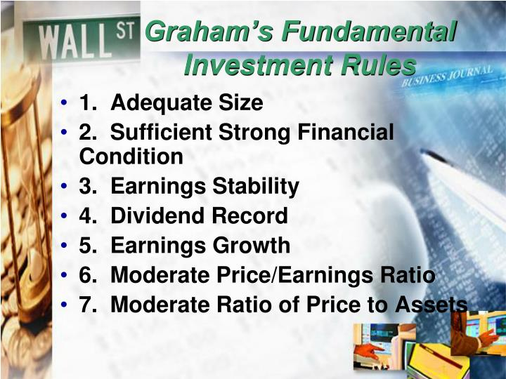 Graham's Fundamental Investment Rules