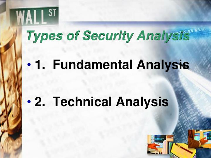 Types of Security Analysis