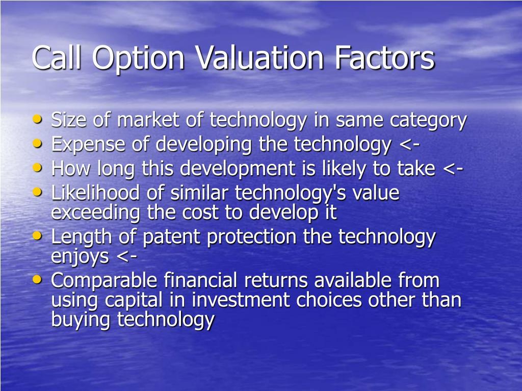 Call Option Valuation Factors