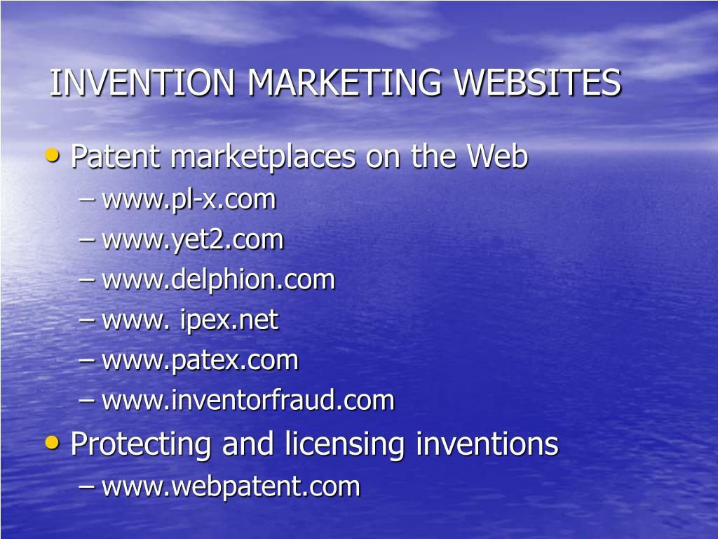 INVENTION MARKETING WEBSITES