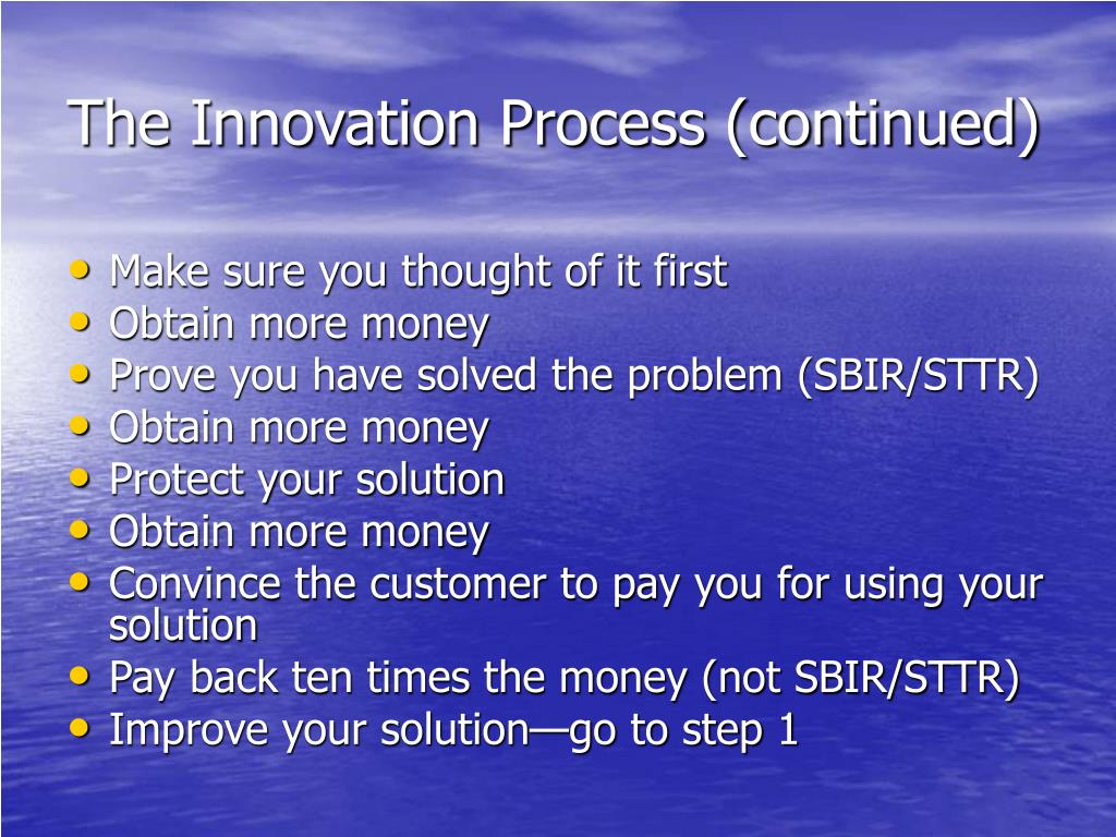The Innovation Process (continued)