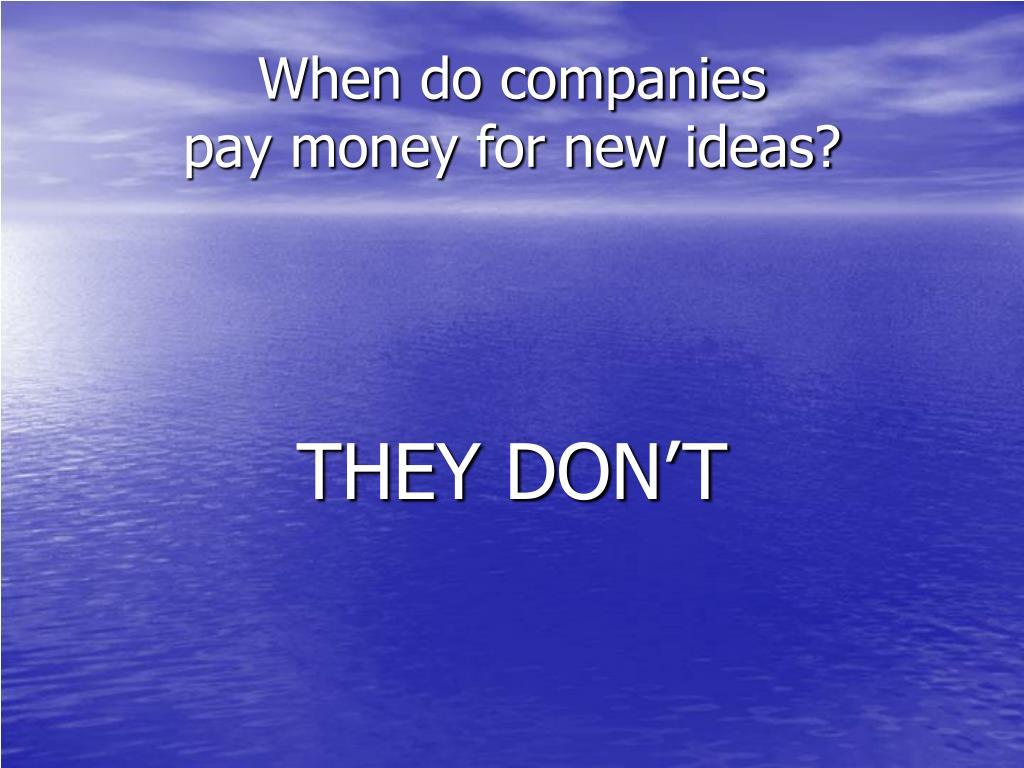 When do companies