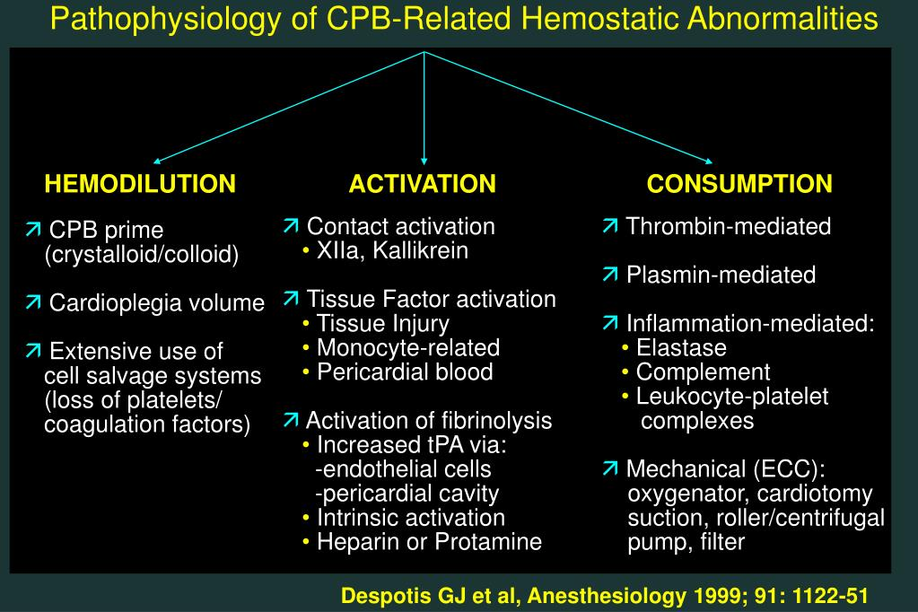 Pathophysiology of CPB-Related Hemostatic Abnormalities