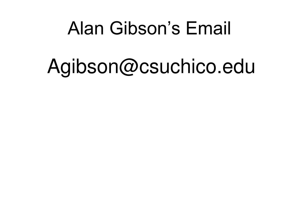 Alan Gibson's Email
