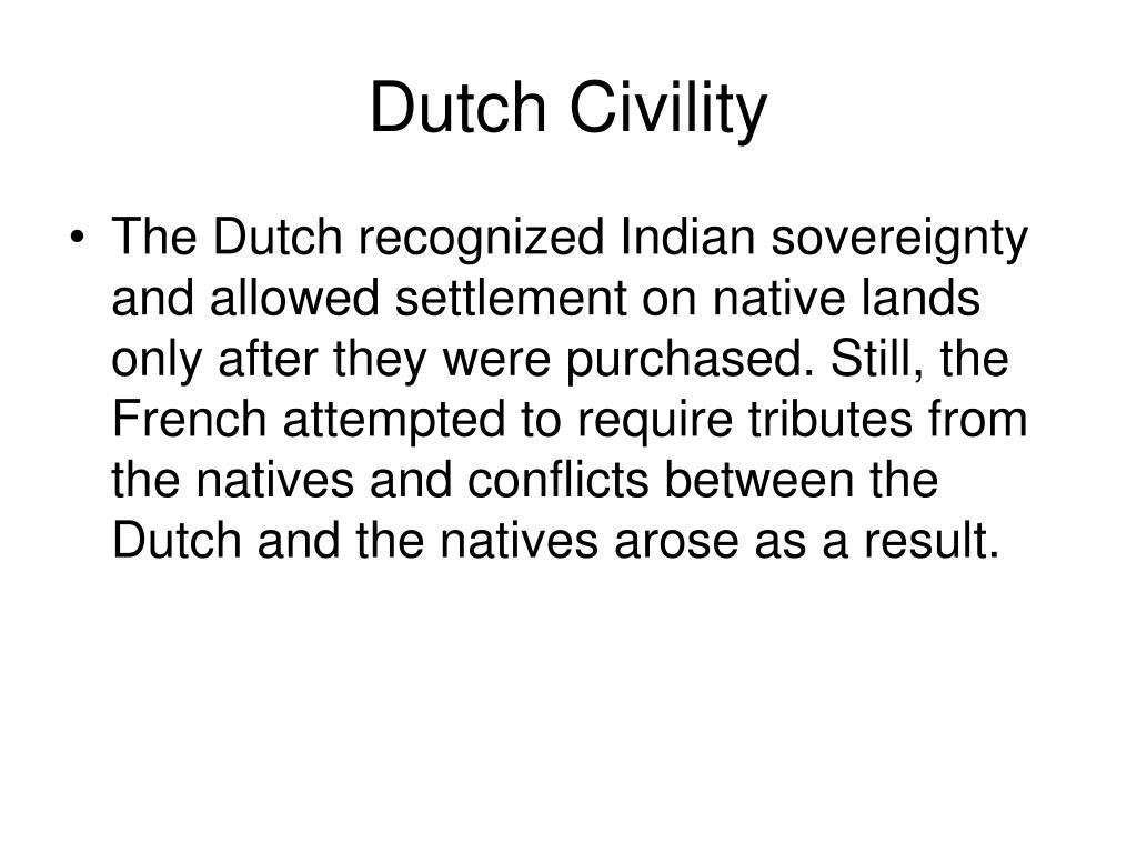 Dutch Civility