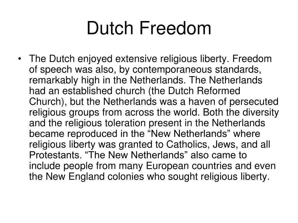 Dutch Freedom