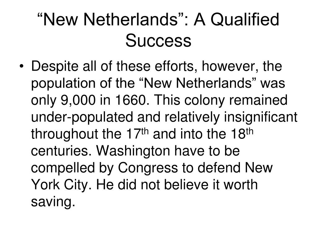 """New Netherlands"": A Qualified Success"