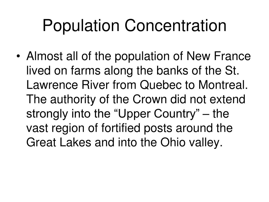 Population Concentration