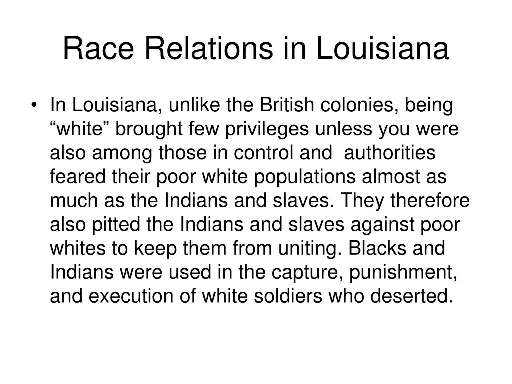 Race Relations in Louisiana