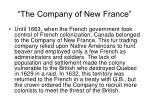 the company of new france
