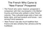 the french who came to new france prospered