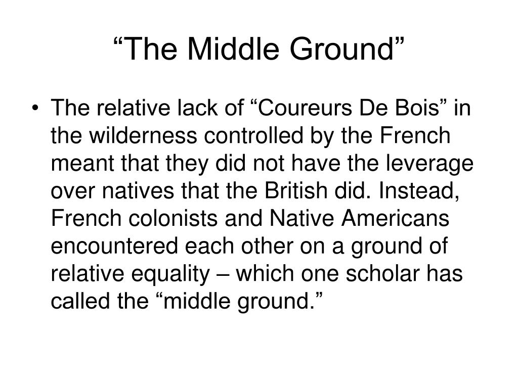 """The Middle Ground"""