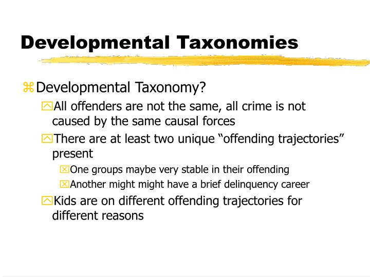 Developmental Taxonomies