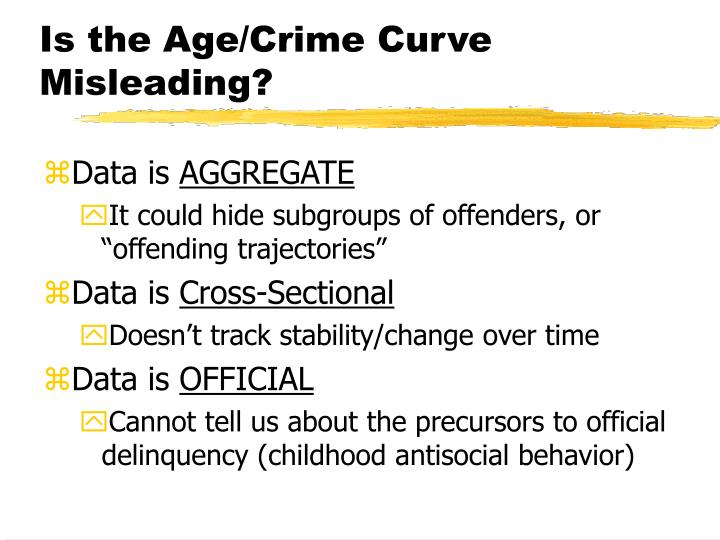 Is the Age/Crime Curve Misleading?