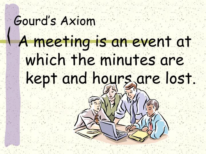 Gourd's Axiom