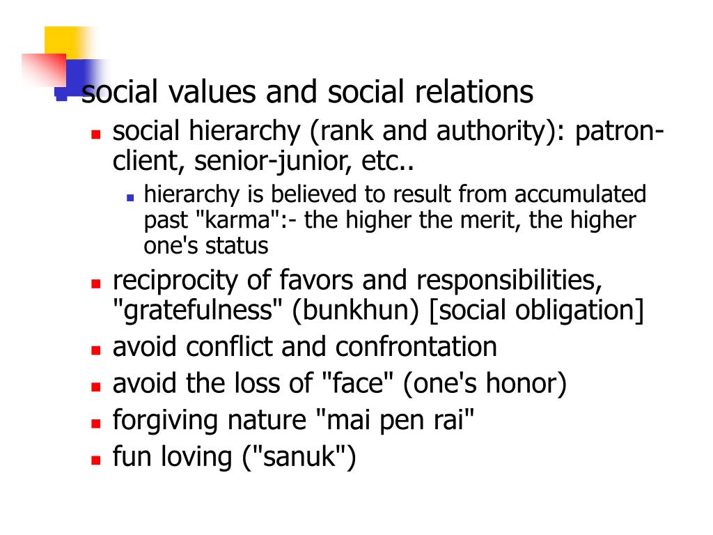 social values and social relations