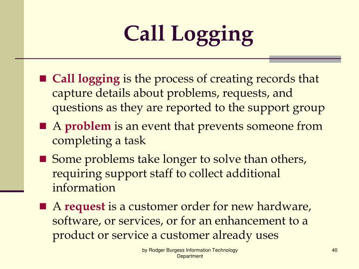 Call Logging