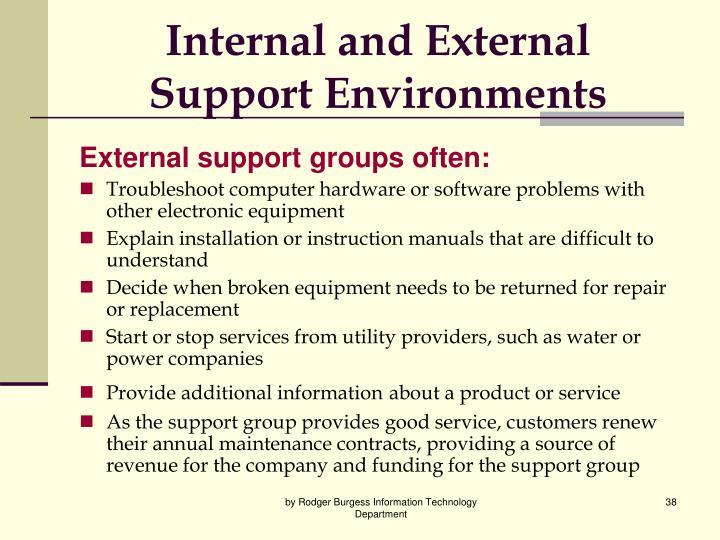 Internal and External