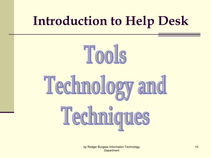Introduction to Help Desk