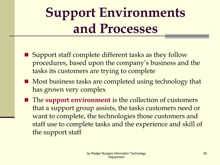 Support Environments