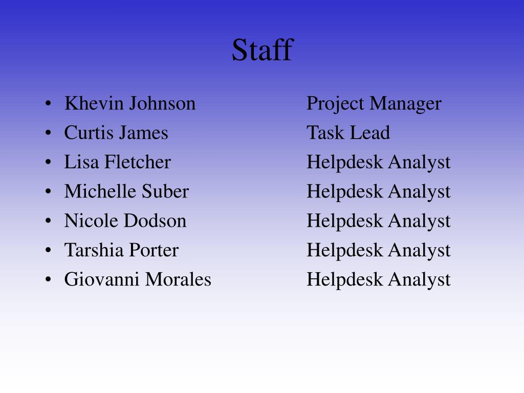 Khevin JohnsonProject Manager