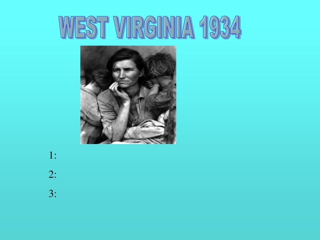 WEST VIRGINIA 1934