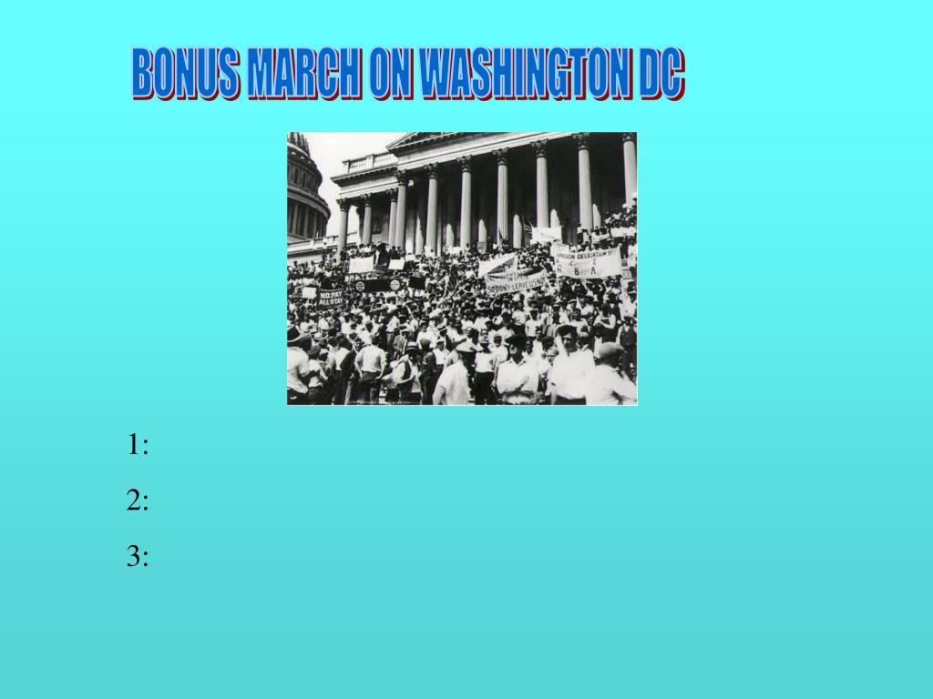 BONUS MARCH ON WASHINGTON DC