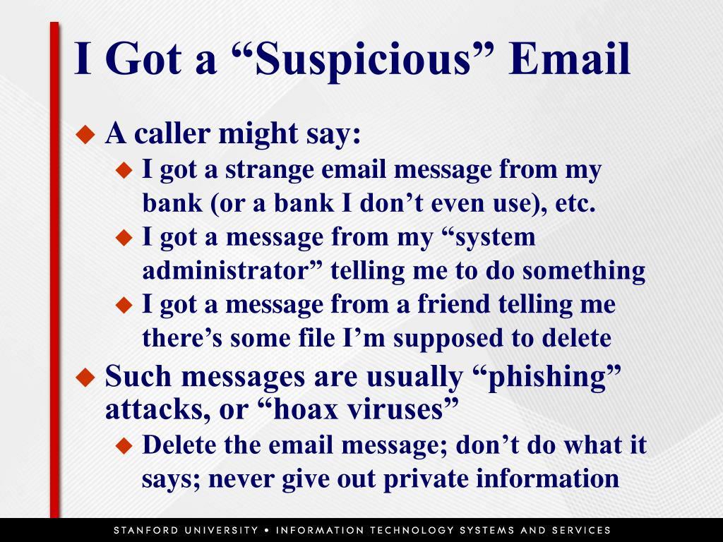 """I Got a """"Suspicious"""" Email"""
