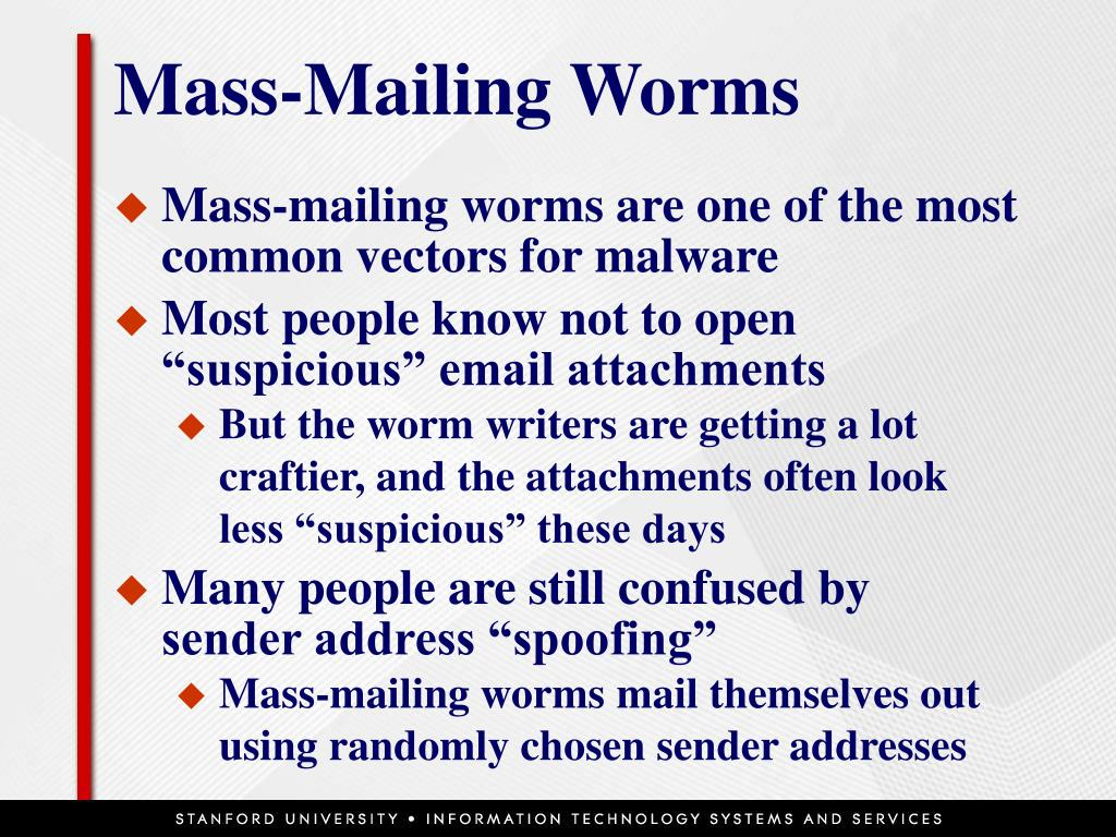 Mass-Mailing Worms