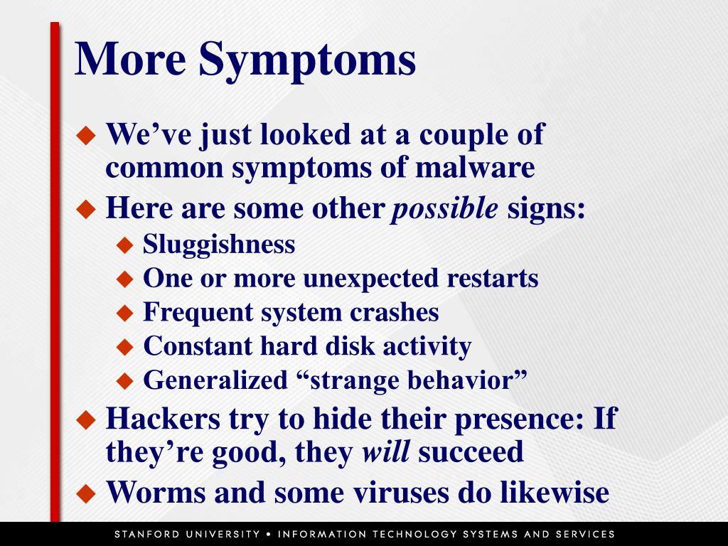 More Symptoms