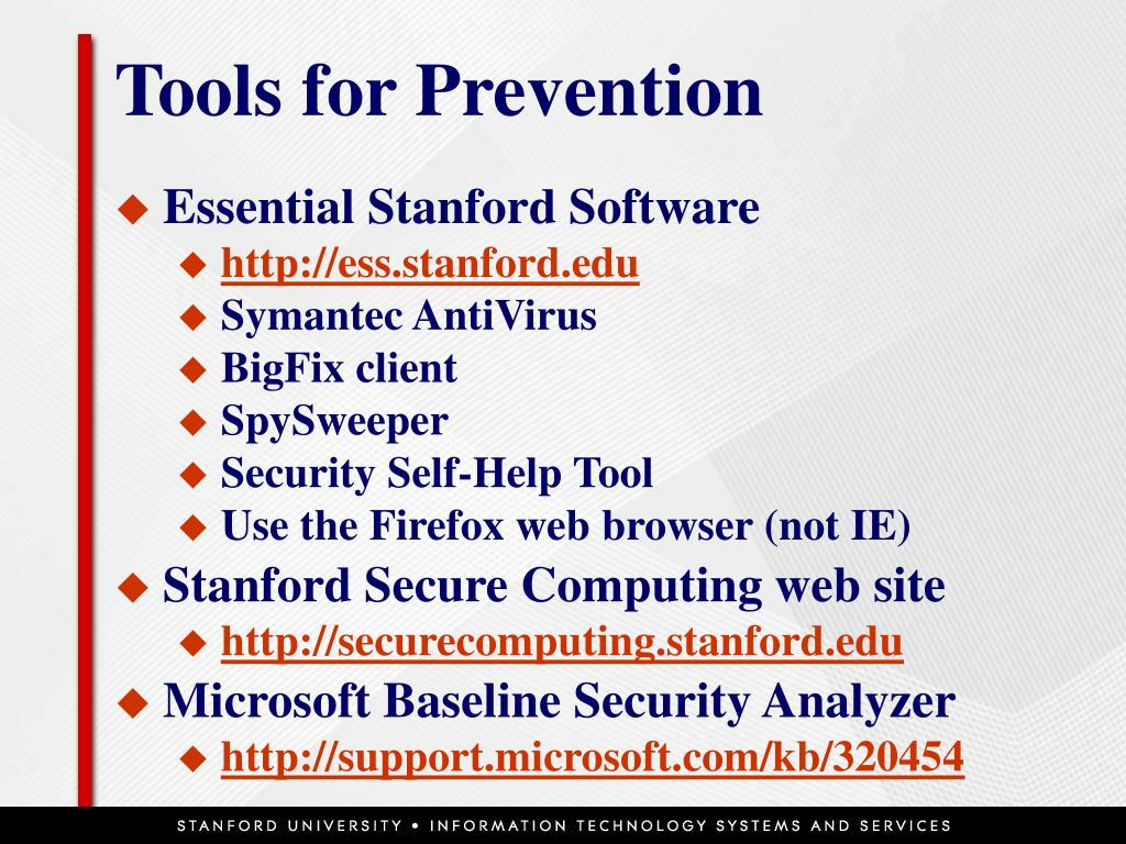 Tools for Prevention