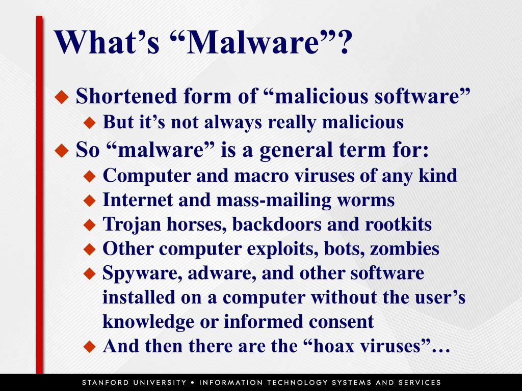 """What's """"Malware""""?"""
