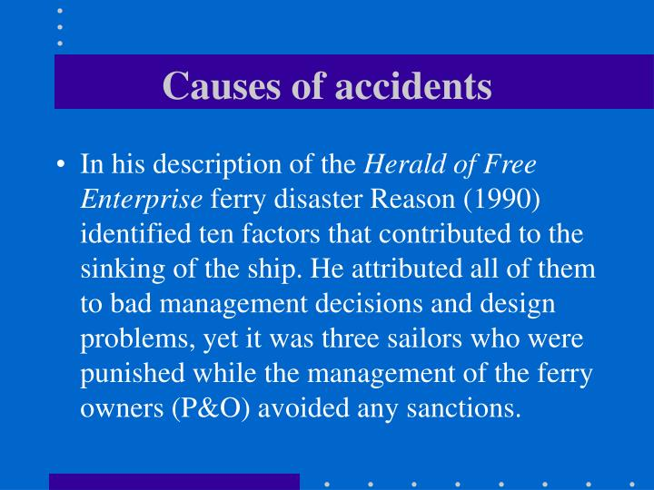 Causes of accidents