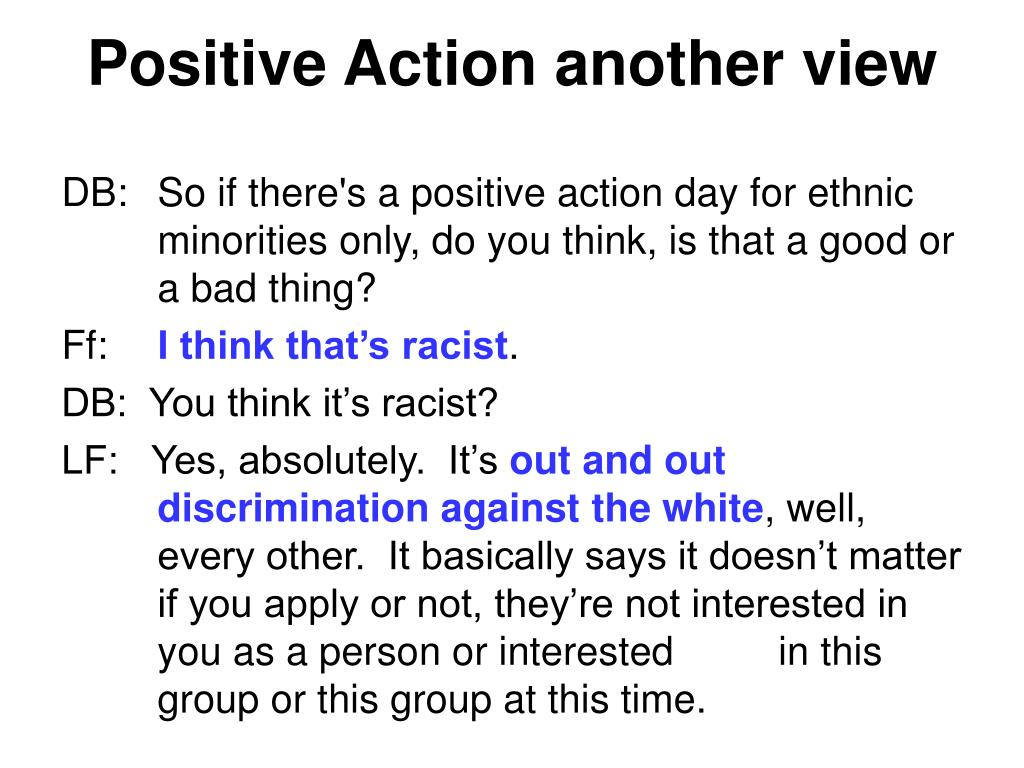 Positive Action another view