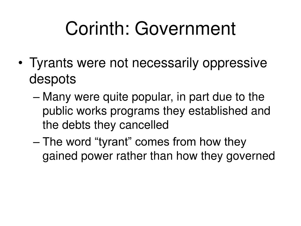 Corinth: Government